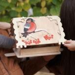 Кормушка (скворечник) для птиц с местом для декупажа, Оренбург